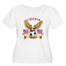 Liberia Football Design T-Shirt