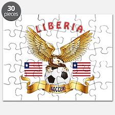 Liberia Football Design Puzzle