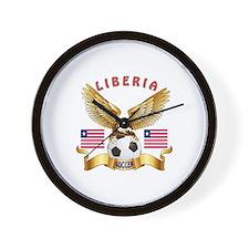 Liberia Football Design Wall Clock