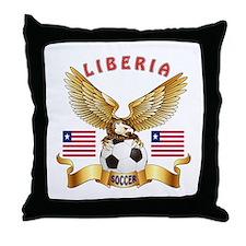 Liberia Football Design Throw Pillow