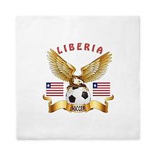 Liberia Football Design Queen Duvet