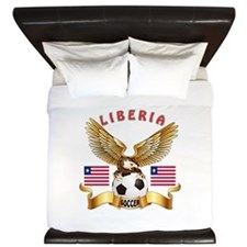 Liberia Football Design King Duvet