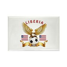 Liberia Football Design Rectangle Magnet