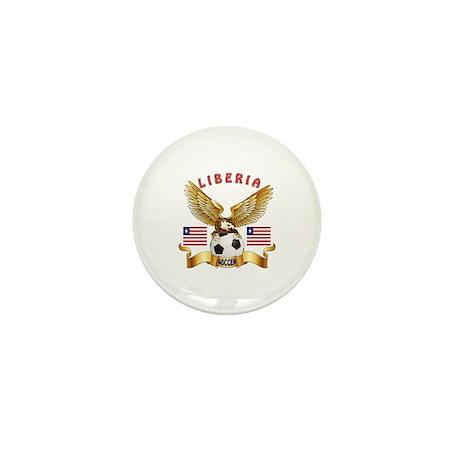 Liberia Football Design Mini Button (100 pack)