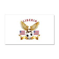 Liberia Football Design Car Magnet 20 x 12