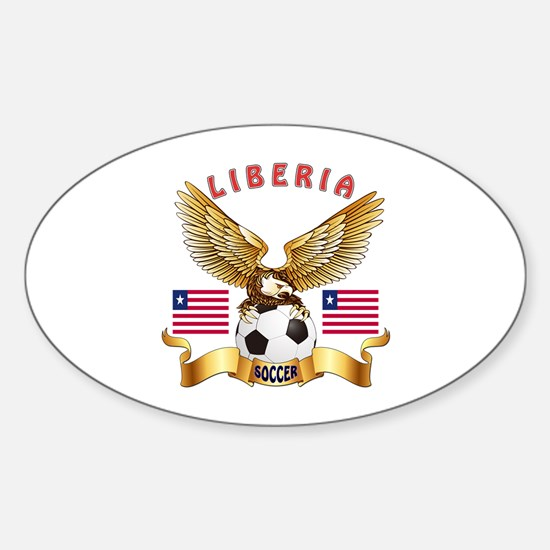 Liberia Football Design Sticker (Oval)