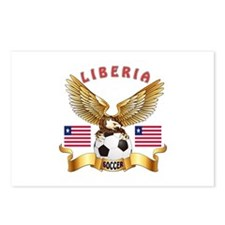 Liberia Football Design Postcards (Package of 8)