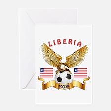 Liberia Football Design Greeting Card