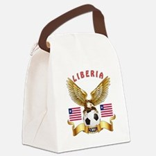 Liberia Football Design Canvas Lunch Bag