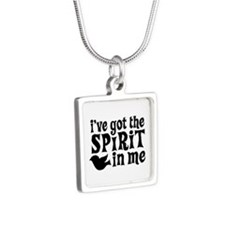 Spirit in Me Silver Square Necklace