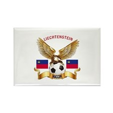 Liechtenstein Football Design Rectangle Magnet