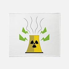 Nuke Plant Throw Blanket