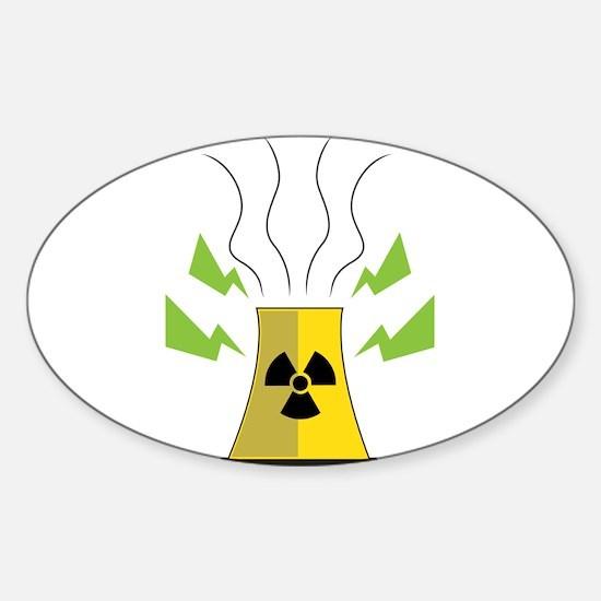 Nuke Plant Sticker (Oval)