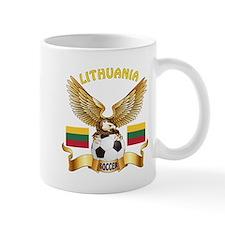 Lithuania Football Design Mug