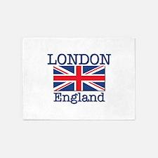 London England 5'x7'Area Rug