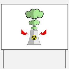 Nuke Plant Radiation Yard Sign