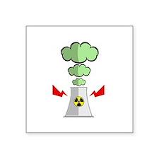 "Nuke Plant Radiation Square Sticker 3"" x 3"""