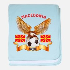 Macedonia Football Design baby blanket