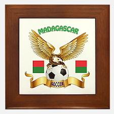 Madagascar Football Design Framed Tile
