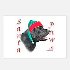 Santa Paws Black Lab Postcards (Package of 8)