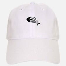 Fish Skeleton Bones Baseball Baseball Cap