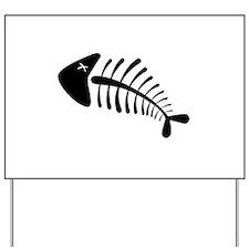 Fish Skeleton Bones Yard Sign