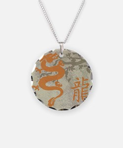 Cute Snake year Necklace Circle Charm