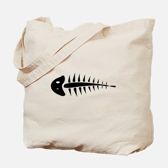 Fish Skeleton Bones Tote Bag