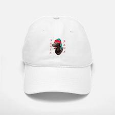 Santa Paws Chocolate Lab Baseball Baseball Cap