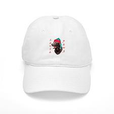Santa Paws Chocolate Lab Baseball Cap