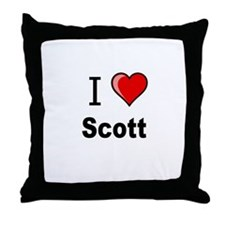 i love Scott heart tee Throw Pillow