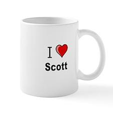 i love Scott heart tee Mug