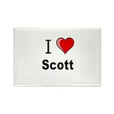 i love Scott heart tee Rectangle Magnet