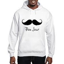 Bonjour moustache Hoodie