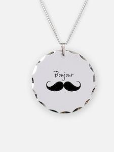 Bonjour moustache Necklace