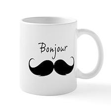 Bonjour moustache Mug