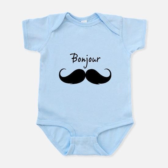 Bonjour moustache Infant Bodysuit