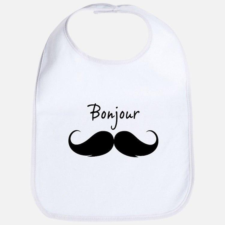 Bonjour moustache Bib
