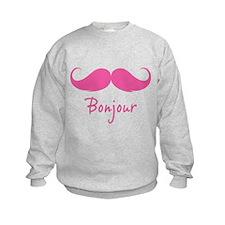 Bonjour moustache Sweatshirt
