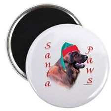 Santa Paws Leonberger Magnet
