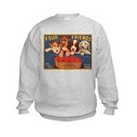 Four Friends (Front only) Kids Sweatshirt