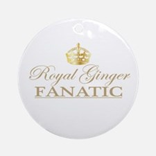 Royal Ginger Fanatic Ornament (Round)