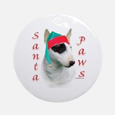 Santa Paws Manchester Terrier Ornament (Round)
