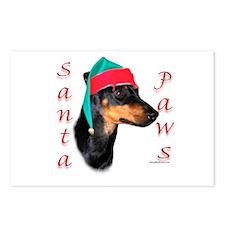 Santa Paws Miniature Bull Terrier Postcards (Packa
