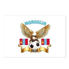 Mongolia Football Design Postcards (Package of 8)