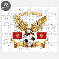 Montenegro Football Design Puzzle