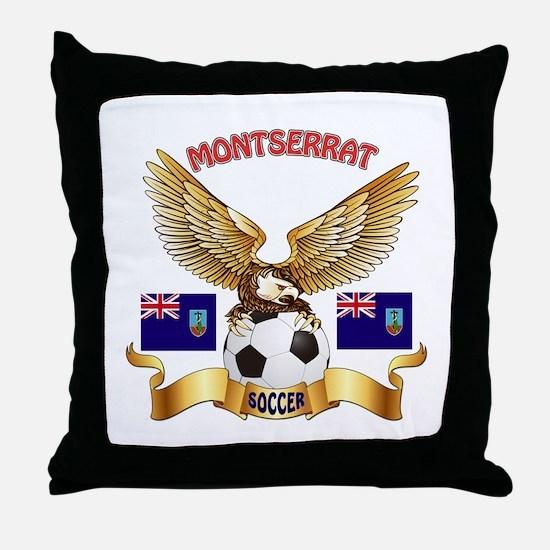 Montserrat Football Design Throw Pillow