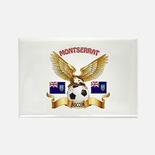 Montserrat Football Design Rectangle Magnet