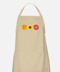 Three Flowers - Warm Colors Apron