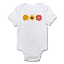 Three Flowers - Warm Colors Infant Bodysuit